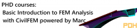 PDH Course - Basic Introduction to FEM Analysis using CivilFEM powered by Marc