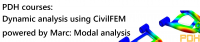 PDH Course - Dynamic analysis using CivilFEM powered by Marc Part I: Modal analysis