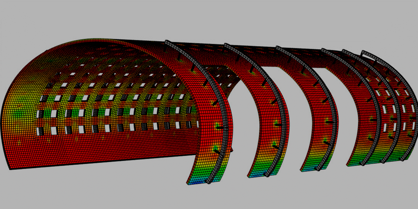 Nonlinear analysis using professional FEA software: ANSYS, MSC NASTRAN, CivilFEM